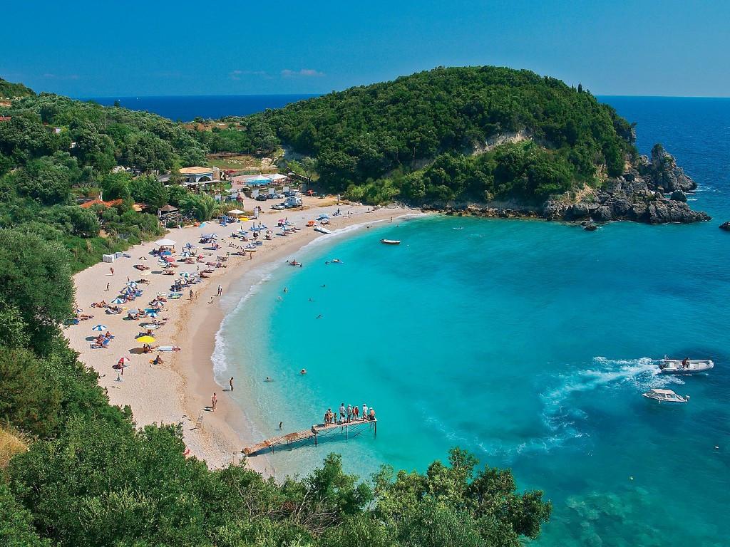 пляж на острове Кос