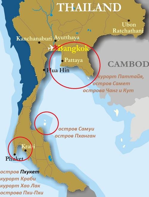 Таиданд карта