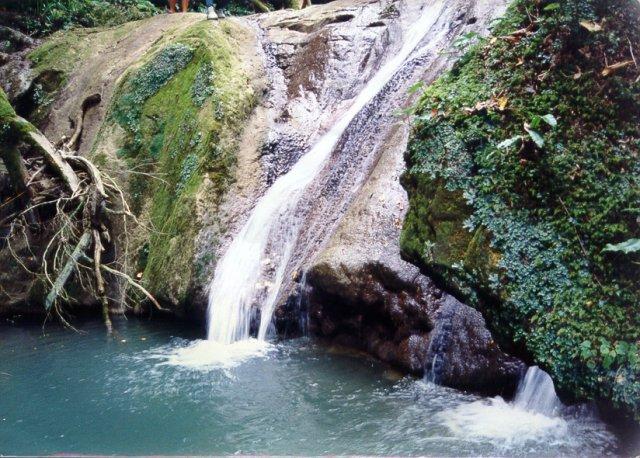 Водопад на горе Ахун
