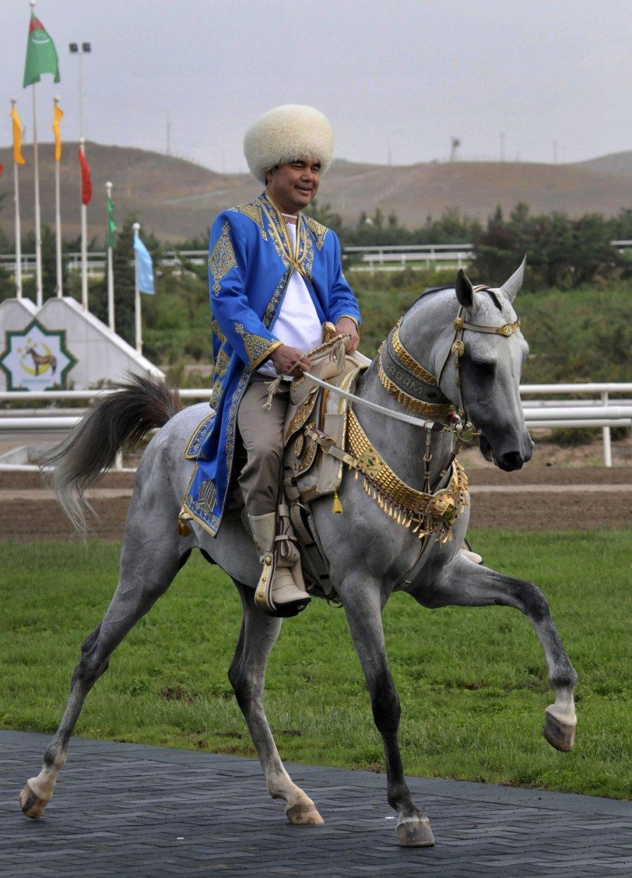 Конные скачки в Туркмении