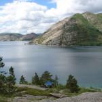 Соленое озеро Шалкар в Казахстане