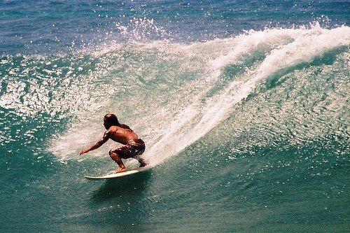 Серфинг на Агурум Бей