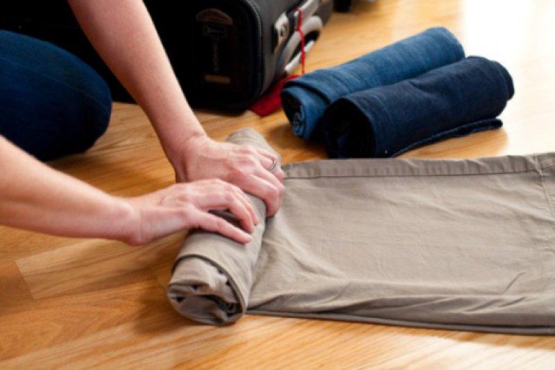 Валики из одежды в чемодан